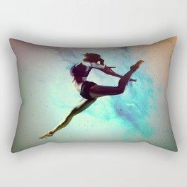 Ballet Dancer Feat Lady Dreams Abstract Art Rectangular Pillow