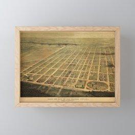 Vintage Egg Harbor Township NJ Map (1865) Framed Mini Art Print