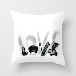 Love Photography Throw Pillow