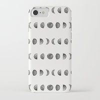 moon phases iPhone & iPod Cases featuring Moon Phases by Andre D
