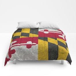 Maryland State flag - Vintage retro style Comforters