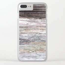 Gray abstract watercolor Clear iPhone Case