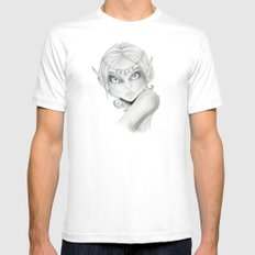 Elf White Mens Fitted Tee SMALL