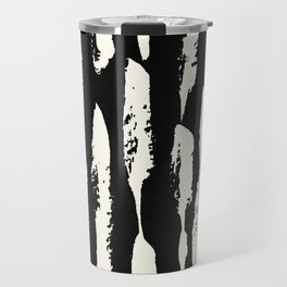 Abstract Stripes in Cream and Black Travel Mug