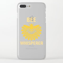 Bee Whisperer | Bees Honey Beekeeper Hive Clear iPhone Case