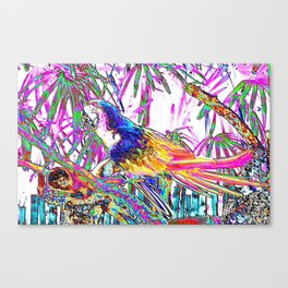 Cheerful Parrot. Art Canvas Print