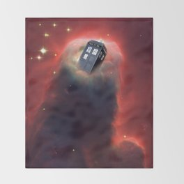 Tardis Doctor Who Pillar Of Gas Throw Blanket