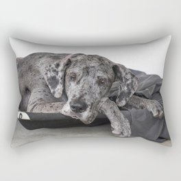 Great Dane waiting Rectangular Pillow