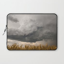 Marshmallow - Storm Cloud Over Golden Wheat in Kansas Laptop Sleeve