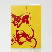 minnie mouse Stationery Cards featuring Mickey and Minnie Mouse by Katherine Marshall