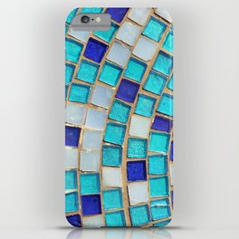 Blue Tiles - an abstract photograph. iPhone Case