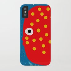 Red Fish illustration for kids Slim Case iPhone X