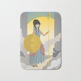 minerva athena goddess Bath Mat