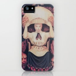 skull of a woman iPhone Case