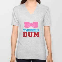 Tweedle Dee Matching Funny Graphic T-shirt Unisex V-Neck