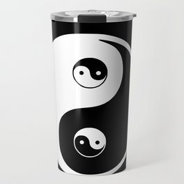 Ying yang the symbol of harmony and balance- good and evil Travel Mug
