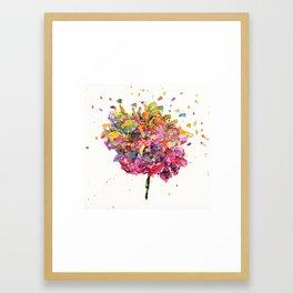 Flower Symphony-Rainbow Framed Art Print