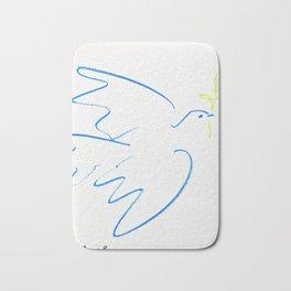 12,000pixel-500dpi - Pablo Picasso - Dove of Peace - Digital Remastered Edition Bath Mat