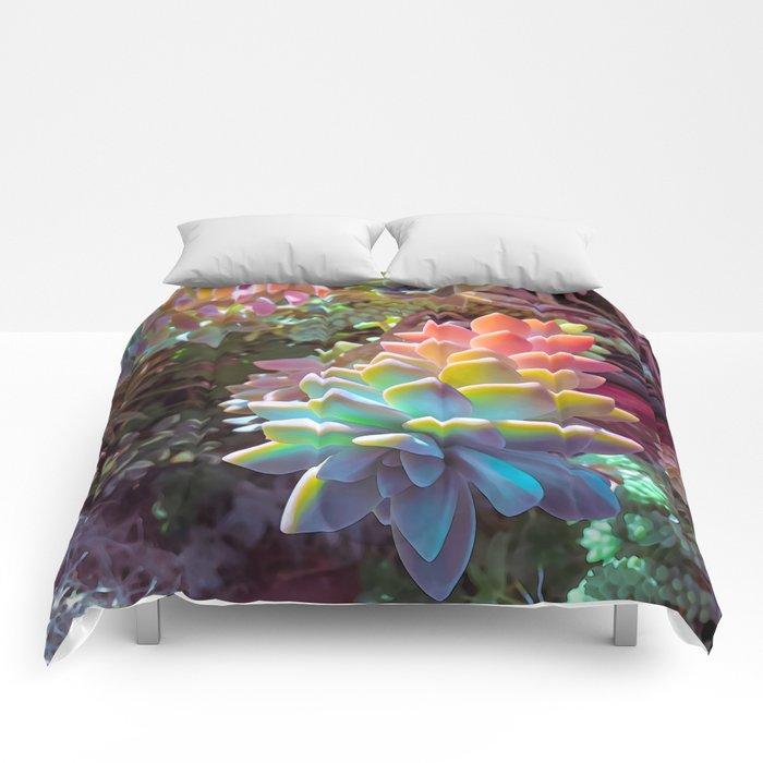 Succulent Rainbow Comforters