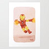 ironman Art Prints featuring Ironman by Popol