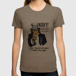 I Want You In The Navy -- Uncle Sam T-shirt