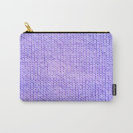 Periwinkle Knit Carry-All Pouch