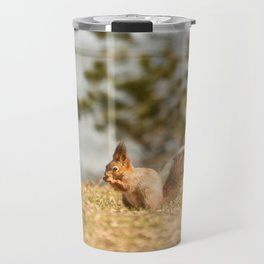 Squirrel's Lunch Break #decor #society6 Travel Mug