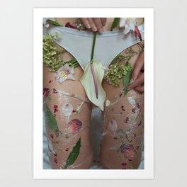 Flower nudity Art Print
