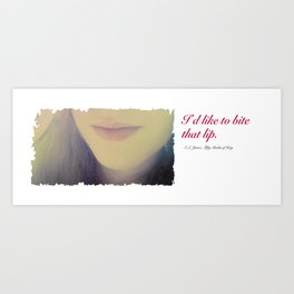 Fifty Shades of Grey Quote Art Print