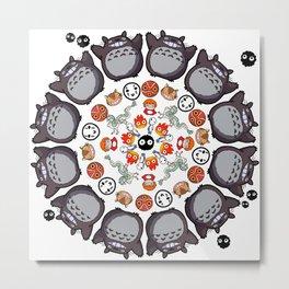 STUDIO GHIBLI MANDALA Metal Print