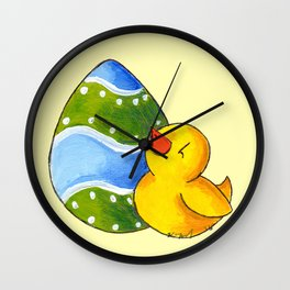 Waiting to Hatch Wall Clock