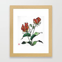 Kitsune Yuri Framed Art Print
