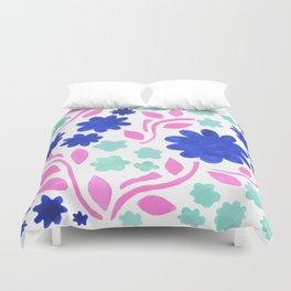 Cool Folk Floral Duvet Cover