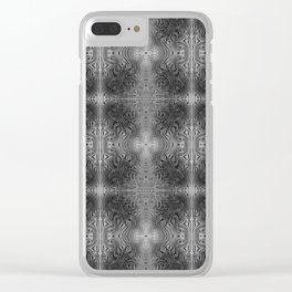 Tryptile 17 B+W (Repeating 1) Clear iPhone Case