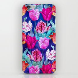 Tulips field iPhone Skin