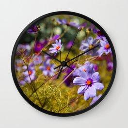 Flowering Cosmos Wall Clock