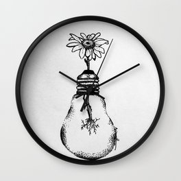 Flowering Ideas Wall Clock