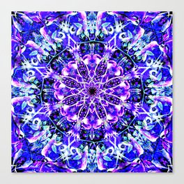 """Underwater Moonlight Mandala"" Canvas Print"