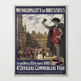 Vintage poster - Brussels Canvas Print