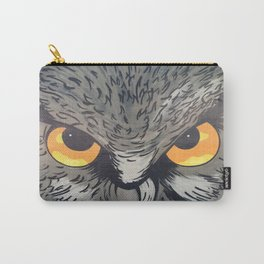 Eagle owl art owl bird drawing Carry-All Pouch