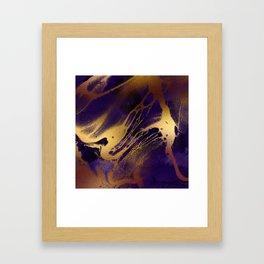 Marbled Molten Gold Sea Framed Art Print