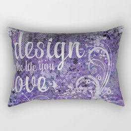 GRAPHIC ART Design the life you love | ultraviolet & silver Rectangular Pillow