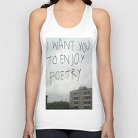 poetry Tank Tops featuring poetry by Willow Summers
