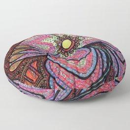 Spinning Flower Mosaic Floor Pillow