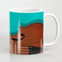 violin Mugs featuring Violin by Rceeh