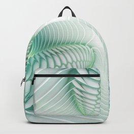 Ghost Busters - fractal - Slime - Lime - Manafold Art Backpack
