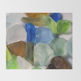 New England Beach Glass Throw Blanket