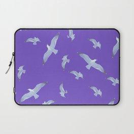 purple seagull day flight Laptop Sleeve