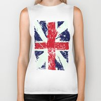 union jack Biker Tanks featuring Union Jack  by UrbanCandy