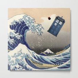 TARDIS at Kanagawa Metal Print